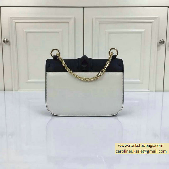 2015 Valentino Small Chain Shoulder Bag in Black/White