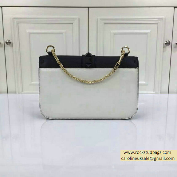 2015 Valentino Medium Chain Shoulder Bag in Black/White