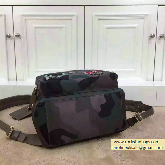 2015 Valentino Camu Butterfly Medium Backpack in Camouflage Printed Canvas