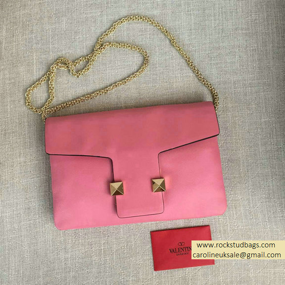 2016 Valentino Pink Cafskin Cross Body Bag