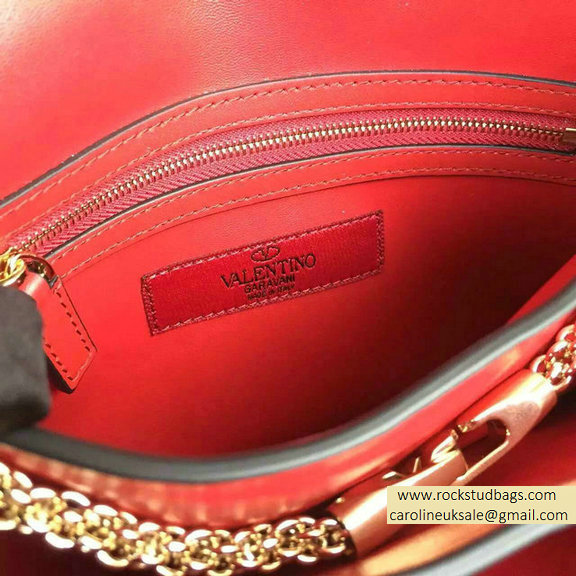 2016 Valentino Red Cafskin Cross Body Bag
