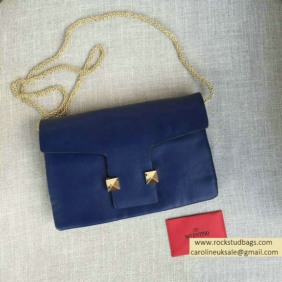 2016 Valentino Navy Cafskin Cross Body Bag