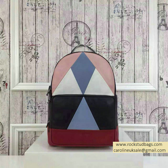 2015 F/W Valentino Medium Color Patchwork Backpack 1