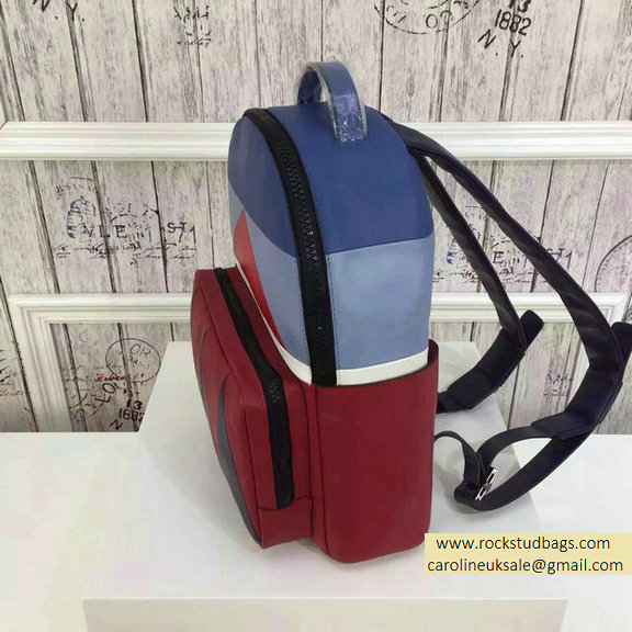 2015 F/W Valentino Medium Color Patchwork Backpack 2