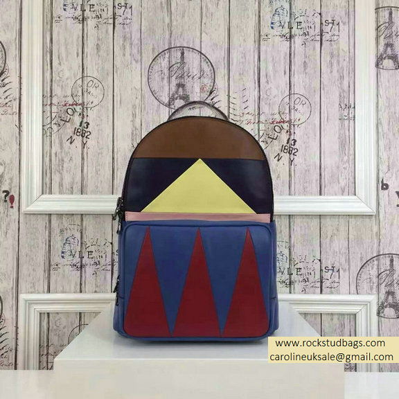 2015 F/W Valentino Medium Color Patchwork Backpack 3