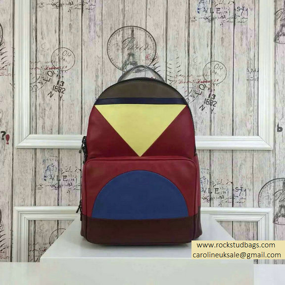 2015 F/W Valentino Medium Color Patchwork Backpack 4