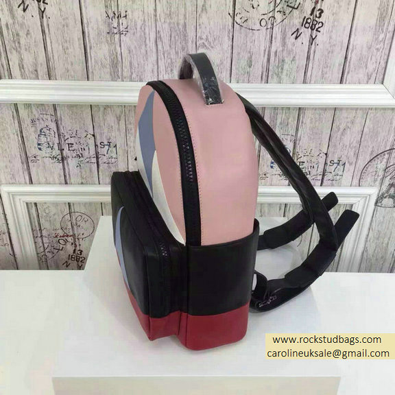2015 F/W Valentino Medium Color Patchwork Backpack