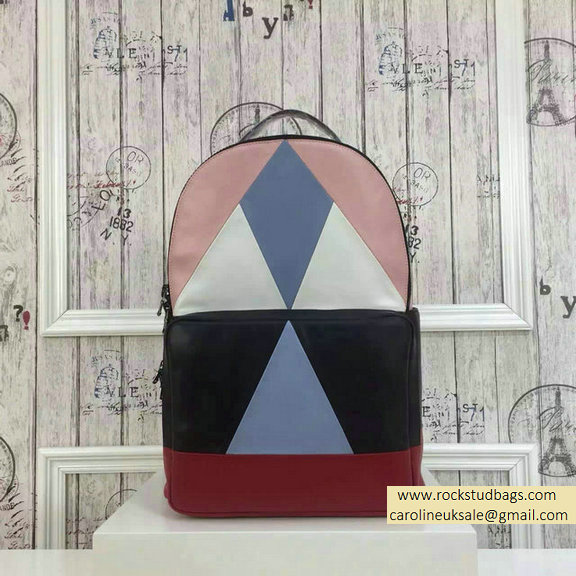 2015 F/W Valentino Large Color Patchwork Backpack 1