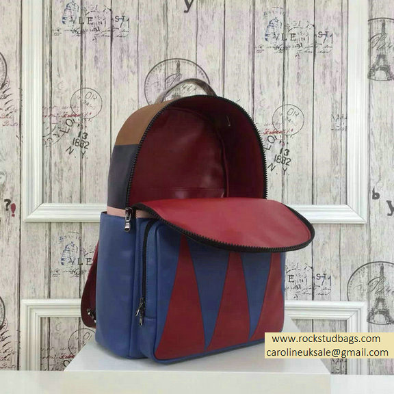 2015 F/W Valentino Large Color Patchwork Backpack 2