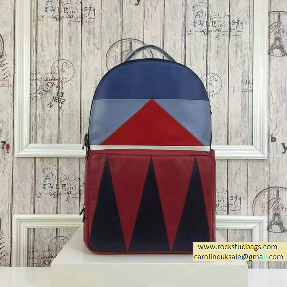 2015 F/W Valentino Large Color Patchwork Backpack 3