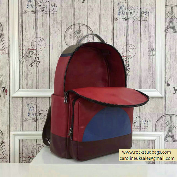 2015 F/W Valentino Large Color Patchwork Backpack 4