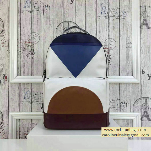 2015 F/W Valentino Large Color Patchwork Backpack 5