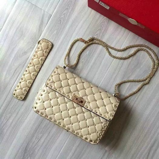 878b56702dc 2016 F W Valentino Garavani Rockstud Spike Medium Bag Sale Online ...
