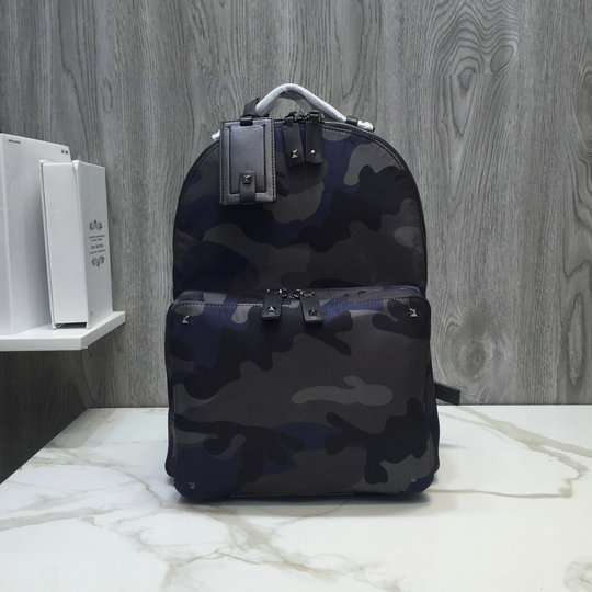 2019 Valentino Nylon Camouflage Medium Backpack Multicolor
