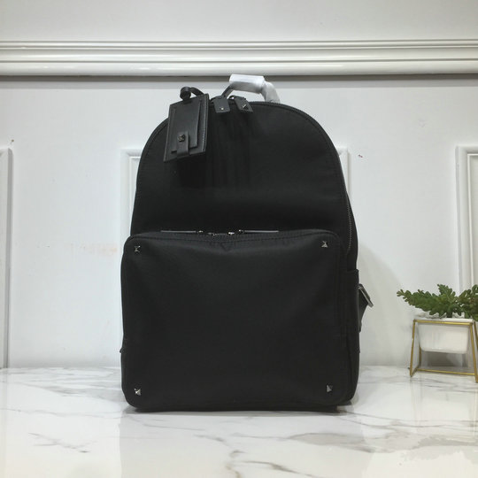 2019 Valentino Nylon Backpack with VLTN ribbon straps